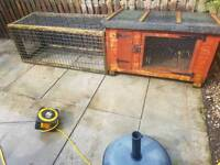Rabbit guinea pig hutch cage and run joiner built