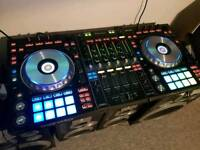 Pioneer DDJ SZ with deck protector and flight case