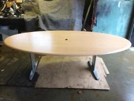 Beech Veneer Desk, Board Room Table
