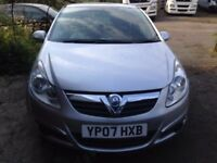 VAUXHALL CORSA 1.4 SXI SILVER 2007 PAINT WORK NEEDS DOING