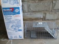 LIVE HUMANE ANIMAL CAGE / TRAP AS NEW IN BOX ONLY £15