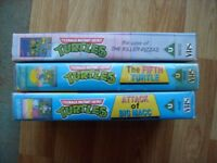 Teenage Mutant Ninja Turtles cartoon episodes on VHS Video 3 videos altogether