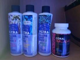 Fauna marine supplements and triton for marine aquarium