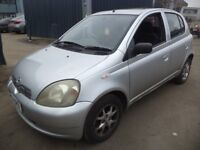 2001 Toyota Yaris 1.3 Petrol 5 Door Hatchback in Silver Colour. Mileage is 86K, With 7 Months MOT