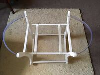 Wooden baby moses basket rocker mothercare