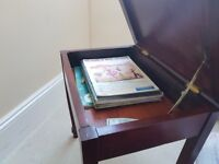 Lovely restored piano stool with storage