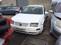 2000 1.9 Diesel Volkswagen Bora, Breaking for parts only. Postage Nationwide