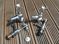 Victorian style bath and basin taps .Chrome, as new , clean and stylish, from BQ 12 months ago