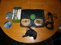 FOR SALE Original xbox with 15 orginal games and over 7000 installed