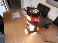 retro rotating coca cola lamp.