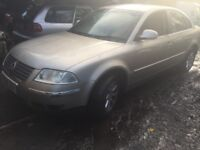 VW Passat 2004 2.0 petrol 5dr beige Breaking For Spares