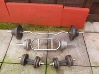 Cast Iron Weight Training Set