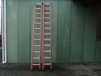 Red Zarges Fibreglass Extension Ladders (2 x 12 rungs)