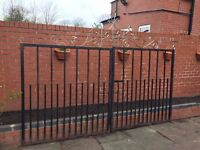 3 sets of robust wrought iron gates