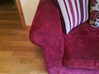 Beautiful velvet 2 seater sofa for sale