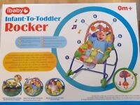 BRAND NEW ibaby Infant-to-Toddler Rocker Musical Viberation Soothing Chair