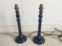 Pair of candlestick lamp bases