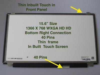 """DELL INSPIRON 15-3521 LTN156AT40 LAPTOP LED LCD Screen P28F TOUCH 15.6"""" WXGA HD"""