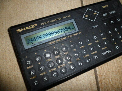 Taschenrechner Calculator Sharp Pocket PC 1248