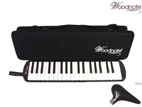 Woodnote MLK-37BK Beautiful Black 37 Key Melodica + 12 Holes Alto C Ocarina