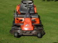 HUSQVARNA (Rider 13 Bio-Clip) Out Front Ride on Mower - Garden and Grounds Care. Good Mower