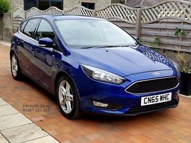 Main Dealer Supplied 2015 65 Ford FOCUS Zetec 1.5 TDCi, One Owner, Warranty to 2018. Zero Rd Tax.