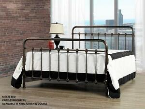 ELEGANT METAL BEDS ON REDUCED PRICES : GRAND SALE- 50% OFF (AD 148)