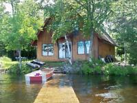 Chalet-style Cottage on  1st Eel River Lake