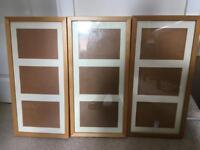 3 photo frames