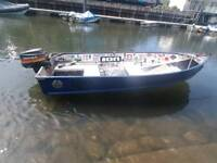 Aluminium boat, 20hp mariner and trailer