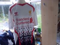 CHOICE OF TWO LIVERPOOL FC TOPS PLUS SPORTS COAT AS NEW £10 EACH
