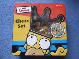 The Simpsons Chess set in a Tin