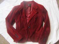 Red velvet blazer from Zara (size M)