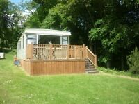 Static caravan for hire in peebles