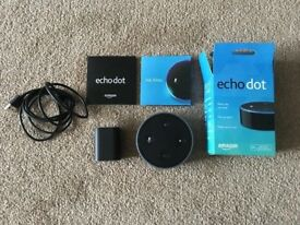 Amazon Echo Dot 2nd Generation (Black) Opened, never used.