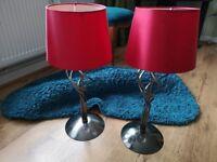 2x stylish lamps