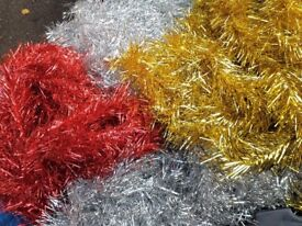 Christmas Tinsel... New...3 Colours (joblot)