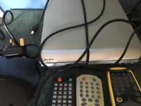 TV/Video combi, DVD player and Freeview box
