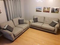 2 Grey Next Sofas, 3 seater and 2 seater