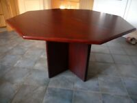 BEAUTIFUL OCTAGONAL DINING TABLE IN ROSEWOOD