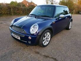 BMW MINI COOPER LEATHER HEATED SEATS SATNAV 54000 MILES ONLY CHEAP INSURANCE COOPERSTRIPS LONG MOT