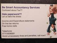 Tax returns, accounts, Sub Contractors,book keeping, Vat returns, sole traders, partnerships