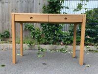 Habitat Radius Oak Dressing Table – 2 Drawers – Great Condition