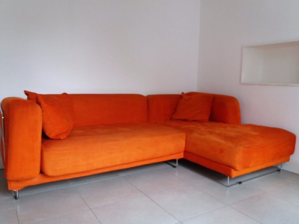 Ikea TylÖsand Corner Sofa Burnt Orange