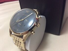 BRAND NEW EMPORIO ARMANI MENS GOLD WATCH IN BOX NEVER BEEN USED !!