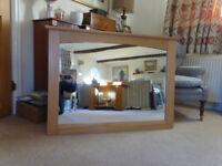 Oak Freamed Mirror
