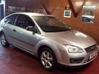 06 ford focus 1.4 sport.3 door hatchback.12 months mot/warranty included/petrol/manual