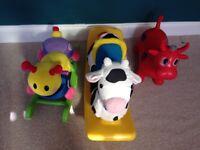 Toddler sit on toys