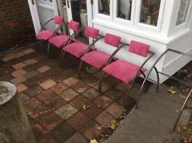 Salon Reception Waiting Chairs Art Deco Style