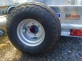 Agri trailer wheels 400/60-15.5 wheels for silage trailer farm trailer